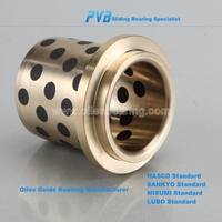 Solid lubricants shouldered sleeve cast bronze bearing manufacturer for automobile industry,Oilless CuAl10Ni bronze guide bush