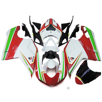 Injection Fairings For Ducati 848 1098 1198 2007 - 2012 ABS Plastic Complete Motorcycle Fairing Kit Corse Red White