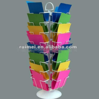 Decorative New Style Floorstanding Metal Cardboard Display Stand
