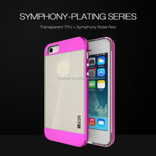 TPU+PC Case for iphone 5 5s 6 6plus Hybrid Silicone Protective Shell With PC Frame