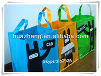 Fashion woven tote bags with CMYK printing and glossy lamination/Reusable shopping bags/ Wholesale shopping bags made in China