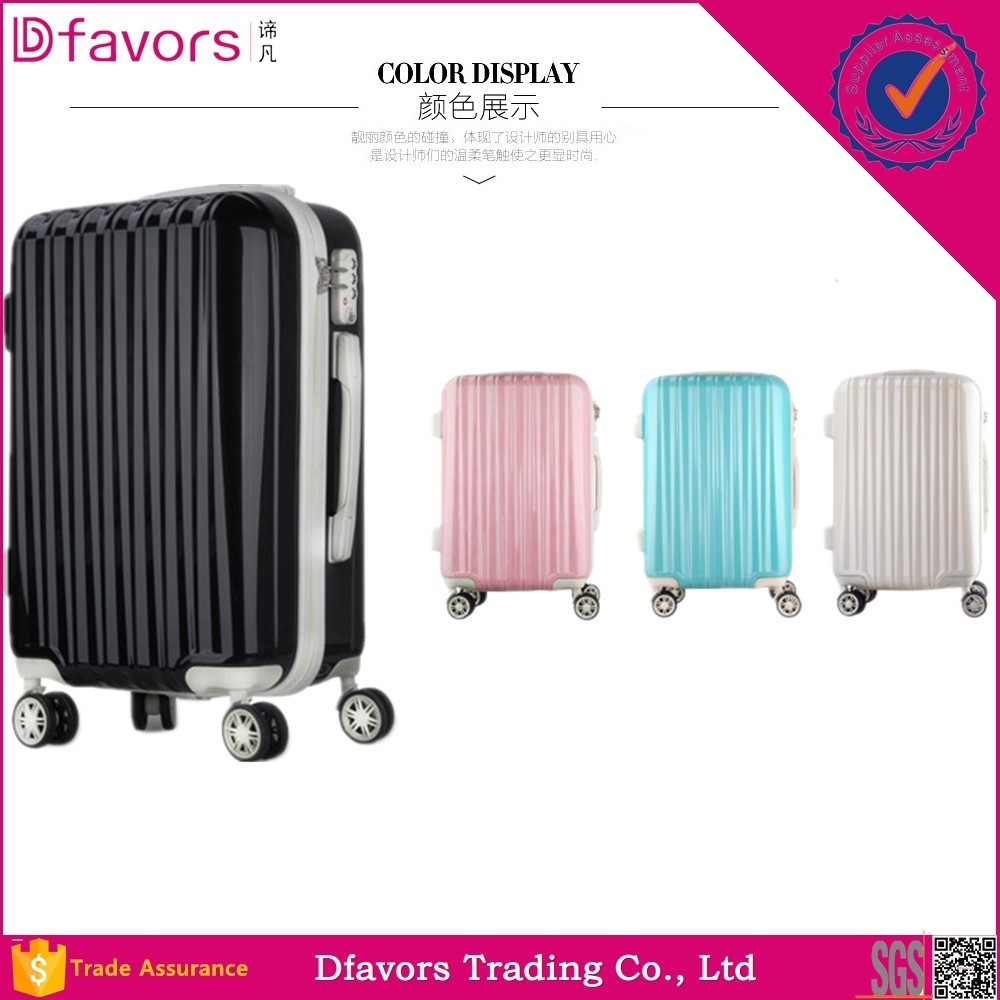 Manufacture price wheeled trolley suitcase travelling case luggage