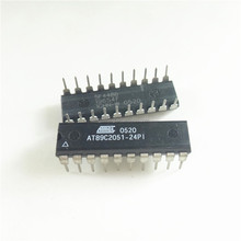8051 89C Microcontroller IC 8-Bit 24MHz 2KB (2K x 8) FLASH 20-PDIP AT89C2051-24PI