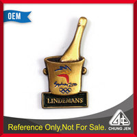Belgian beer brand logo soft enamel metal souvenir pin badge