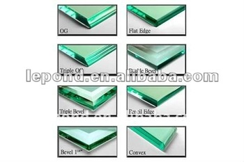 bevel edge-tempered glass table top/bevel edge glass table top