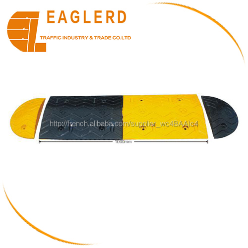 Durable Reflective Rubber Speed Bump Speed Hump for road safety