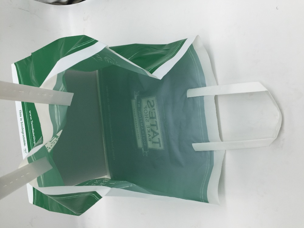 OEM Cheap LLDPE Fold Over Rucksack Bag Elegant Plastic Shopping Carrier Bag