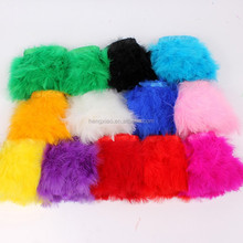 wholesale Best turkey plume trim dyed marabou feather trimmings for party decor