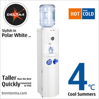 DELTA 4 (WCBHD4) Polar-White Bottled Cooler Hot and Cold Water Dispenser