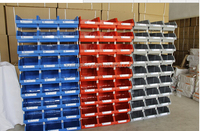 Extra Parts Shop Garage Utility Plastic Wall Mount Bin, intage plastic stacking bins & Box &Container