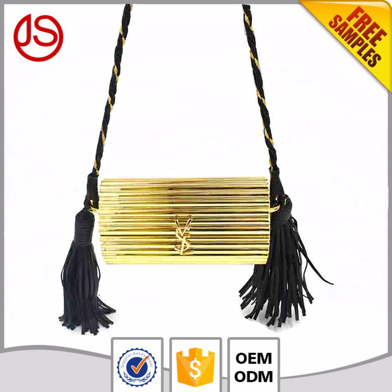 2017 China Special Occassion vintage banjara acrylic leather Tassel ladies evening fancy clutch bags