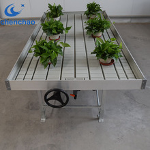 Heavy duty Agro Steel Rolling Benches for commercial greenhouse