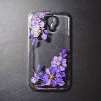 2015 Dry pressed natural real flower phone cover case for mobile phone case, cell phone case, for i9100 case