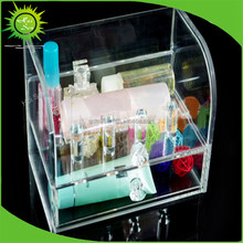 Customized Desktop Household Clear Acrylic Cosmetic Drawer Organizer Makeup Case