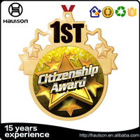 Gold citizenship award prize trophies engraving 1st winner recognition award golden gold silver bronze medals