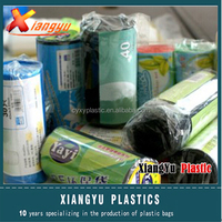 Plastic PE medical waste bag on rolls