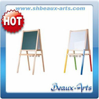 colourful adjustable easel drawing stand in wood kids easel board