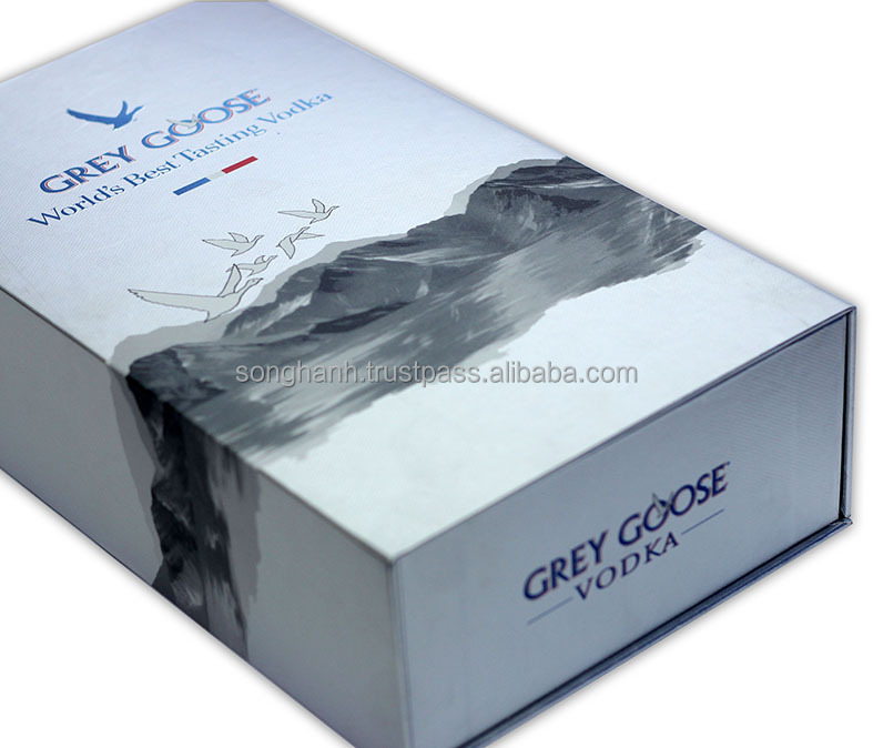 High Quality Vodka Wine Packaging Paper Box