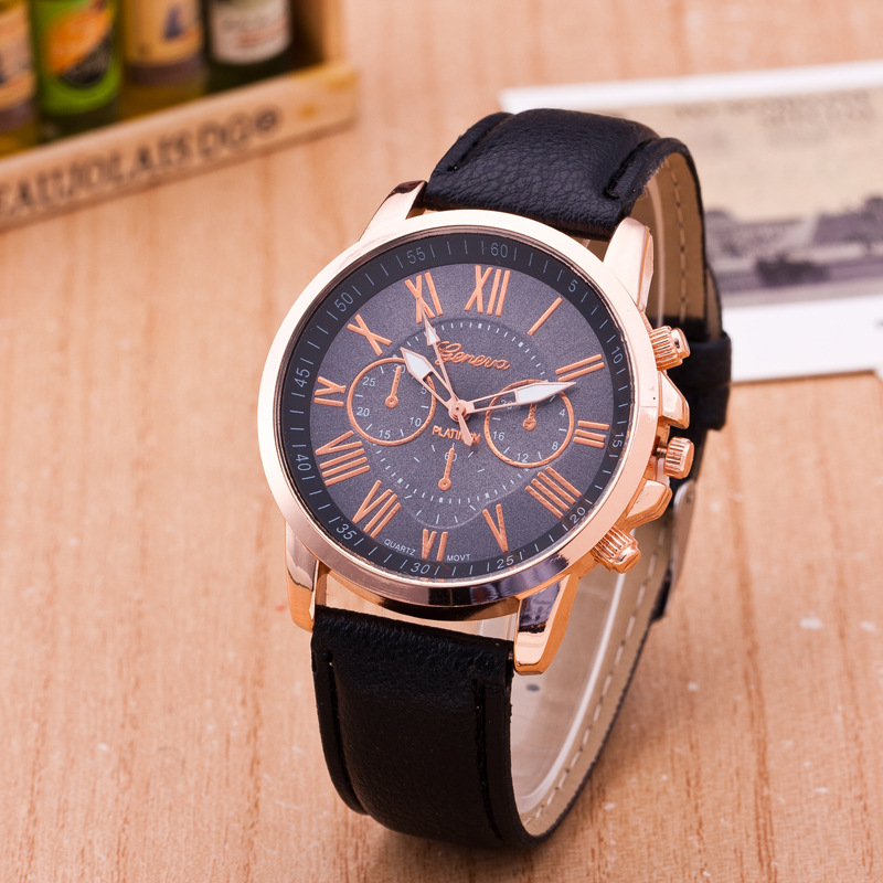 Hot Sell Quartz Watch Women Luxury Leather Watches Ladies Popular Casual Fashion Gold lady Watch
