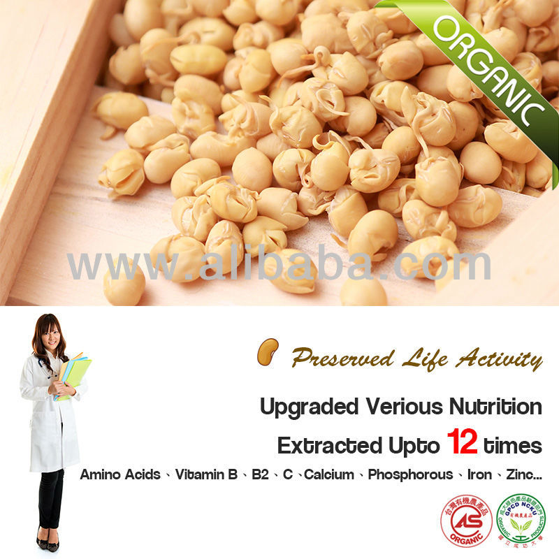 Certified Organic Germinated & Dried Soybeans 2014