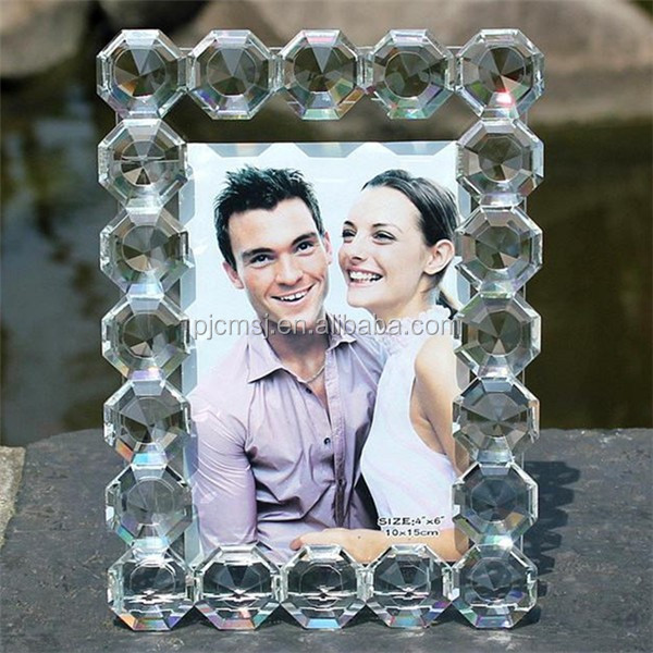 New-style crystal photo frame for family and gifts, pure crystal photo frame