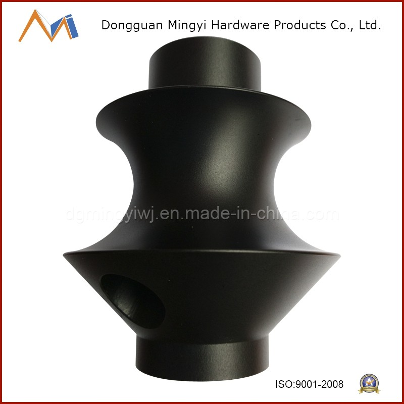 China desigh aluminum die casting parts for smoking parts with black anodizing