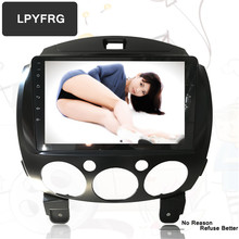 LPYFRG C700 android 7.1 car dvd gps stereo for mazda 2 2010 2012 with audio a/v navigation best car dvd bluetooth dab+ rds radio