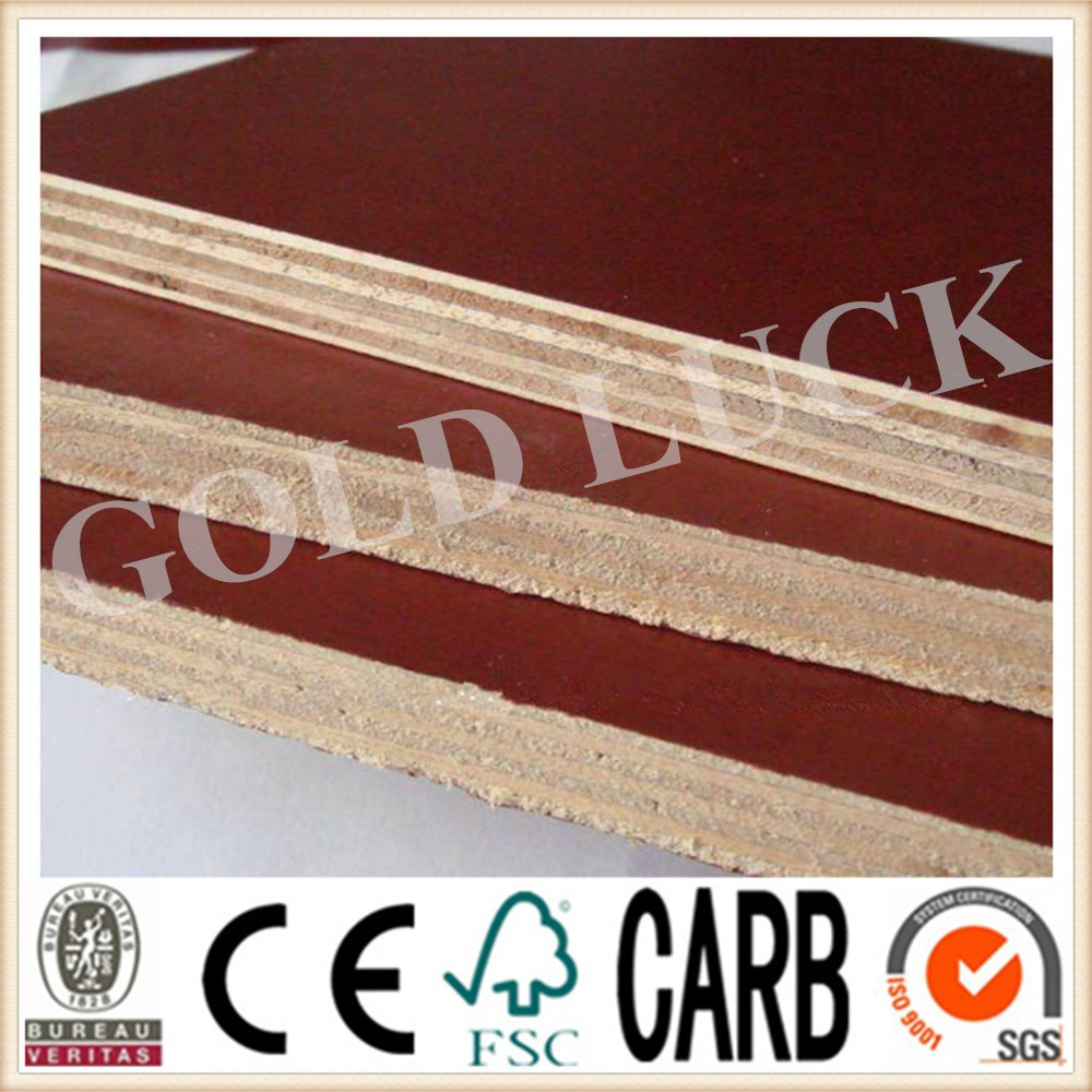 Qingdao Gold Luck 22mm Red Film Coated Formwork