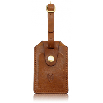 Personalized Genuine leather stamping logo travel bag name tags