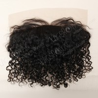 No shedding and no tangle silk top curly 15mm lace frontal