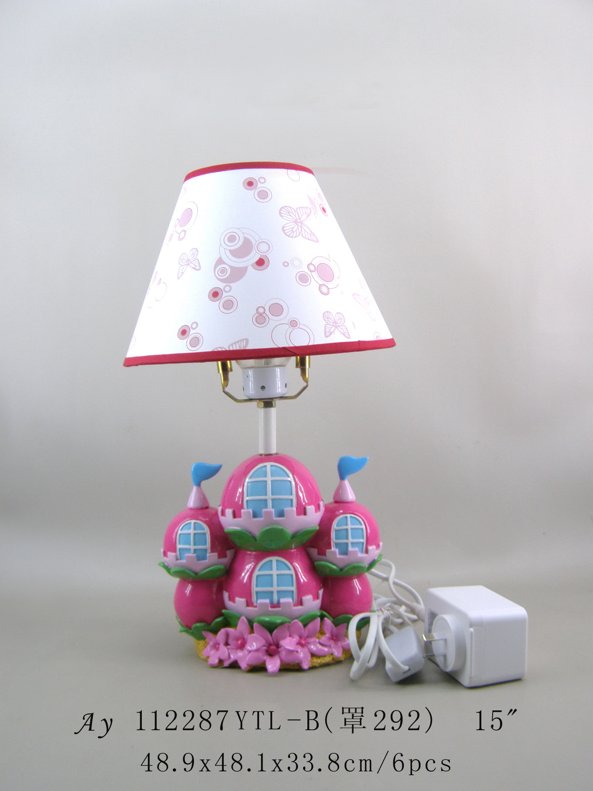 Pink Flower base table lamp for kids led the lamp