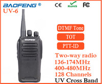 Free earphone Baofeng UV-6 8watt walkie talkie two way radio base station amplifier