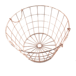 Home table top gold color Metal Mesh Wire Fruit storage Basket