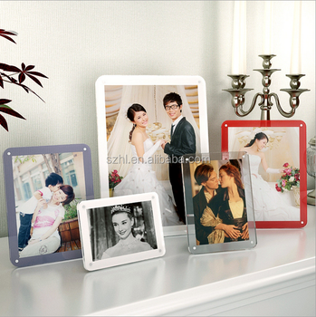 Promotion Decorative Square Clear Acrylic Photo Picture Frame, Customized Photo Frame for Picture