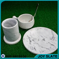 Round marble dining table set marble coasters