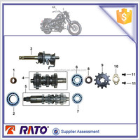 Motorcycle parts TC200/CGP200 engine mainshaft and countershaft with oil seal, needle bearing and bolt for sale