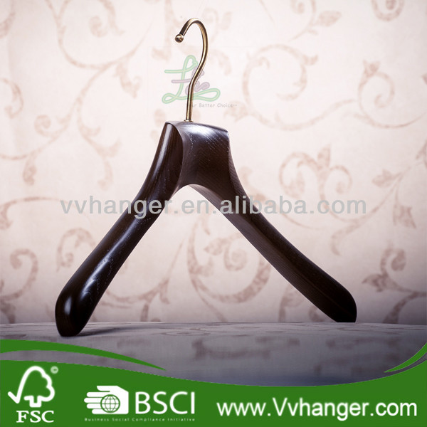 LH932 Mahogany colored deluxe wooden suit hanger