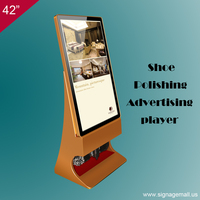 hotsale 42 inch shoes clean floor standing lcd advertising player