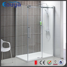 SUYA Chinese new year promote tempered glass sliding frameless single white low tray shower door