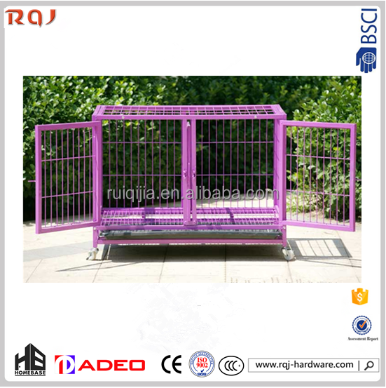 Original Metal popular plastic powder coated foldable dog crate pet cage made in china