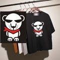Heat press vinyl transfer cute white bear design for clothes