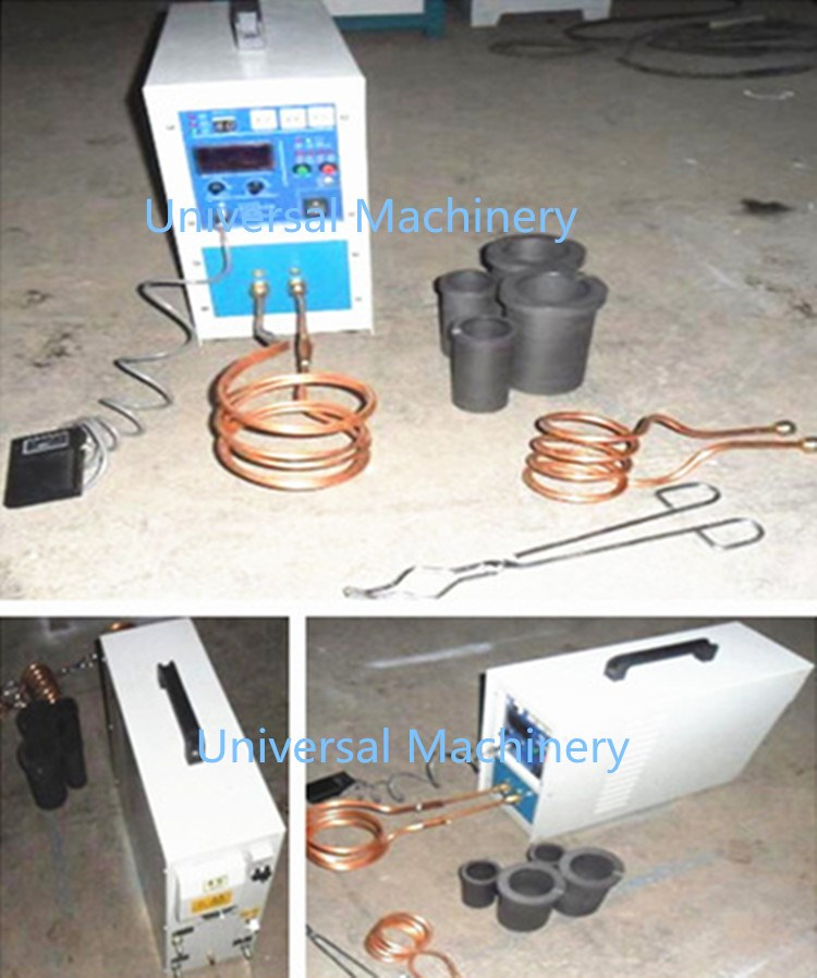 portbable IGBT 100% duty Mini Melting Furnace