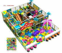 Design Indoor Playground Drawing Theme Park, Charming Soft Play Equipment