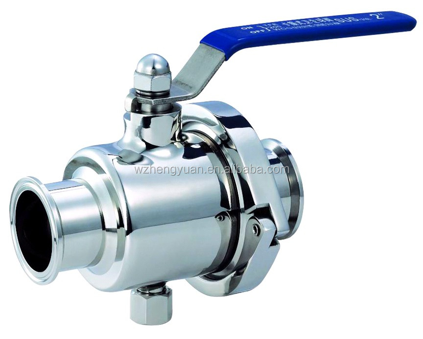 304 or 316L stainless steel clamp ball valve
