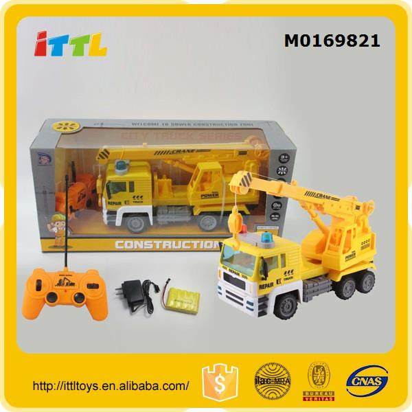 Yellow engineering truck toy radio control toys car