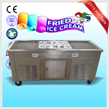 Discount Embellished Overload Protection Two Pans Stirring Ice Cream Machine