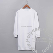 round neck womans lady's extra long sweatshirt