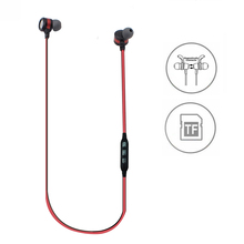 Magnetic Sweatproof Wireless In Ear Earbuds Sport Bluetooth Headphones Earphones with TF SD Card Slot
