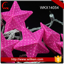 Holiday lighting string paper star lanterns wholesale