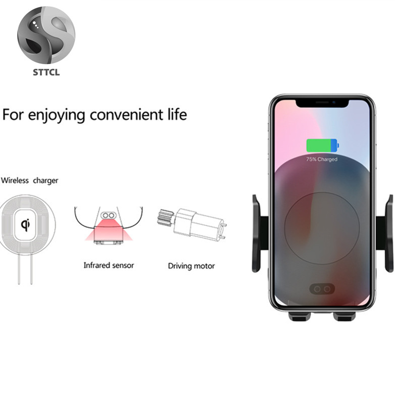Factory Wireless Car Charger <strong>C10</strong> For Iphone For Huawei For Samsung auto 10w fast qi wireless car charger holder